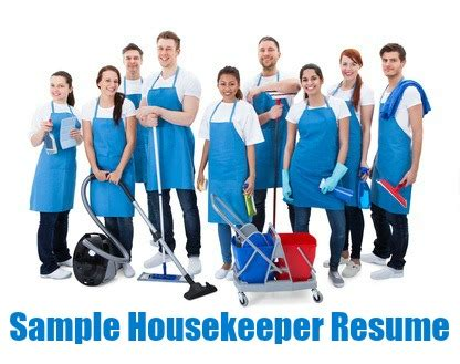 Housekeeping resume examples samples